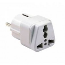 Adaptor priza UK Anglia / US la Europa Active 16A, gri