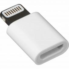 Adaptor mufa incarcare Micro usb la Iphone Lightning 5,6,7, incarcator microUSB mama - 8pin Lightning tata, alimentare telefon, ALB