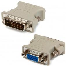 Adaptor DVI-I analogic tata la VGA mama DeTech 24+5pini, mufa dvi analog