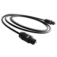 Cablu audio Optic Digital Toslink Tata Active, 1m, conectori auriti, negru