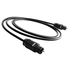 Cablu audio Optic Digital Toslink Tata Active, 2m, conectori auriti, negru