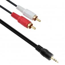 Audio Cable Detech Jack  3.5mm - RCA Male, 1.5m, Stereo, black