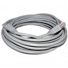 Network cable DeTech, 20M, CAT 5e UTP, gray, pin connections 2 x RJ45