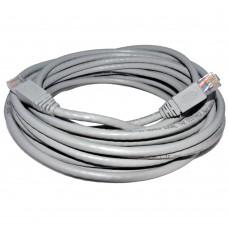 Cablu retea DeTech, 10M UTP cat 5e, gri, mufat 2 x rj45