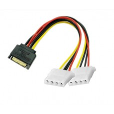 Power adapter s-ata - 2 x molex (ide), 20cm
