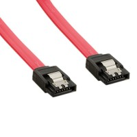 SATA3 Data Cable for hdd / ssd / dvd, 4WORLD , 45cm, metalic CLIPS, sata III 3, RED