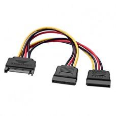 Cablu alimentare s-ata - 2 x SATA, 20cm, multiplicator/ prelungitor sata