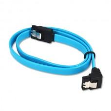 Cablu SATA3 date pentru hdd / ssd / dvd, ACTIVE , 50cm, clips metalic, sata III 3, albastru