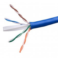 UTP cat 6e Ethernet Cable, ACTIVE, to the meter, cooper 0.4mm, blue