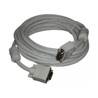 VGA Cable Detech, 5M, double shielded , ferrite, quality, grey