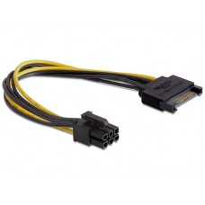 Adaptor alimentare placa video pci-e, 6 pini, de la sata