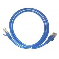 Cablu retea ACTIVE, 2.5M, UTP cat 5e, albastru, mufat 2 x rj45