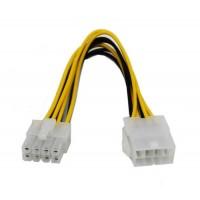 Cablu Active, Extensie prelungire alimentare CPU sursa ATX EPS 8 pini mama la 8 pini tata, prelungitor pentru placa baza alimentare procesor, 20cm