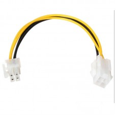 Active cable, Power extension for CPU 4 pin male to 4pin femele, Extender for cpu power supply, 20cm