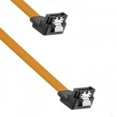 Cablu SATA date pentru hdd / ssd / dvd, DeTech , 30cm, clips metalic, 90 grade