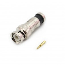 Set 10 conectori BNC mufa tata, mixt pentru cablu coaxial RG6 RG59, camere supraveghere video, calitate deosebita