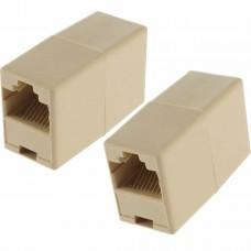 Adaptor / Mufa de prelungire cablu retea UTP / FTP / RJ45,  Active, mama-mama, prelungitor