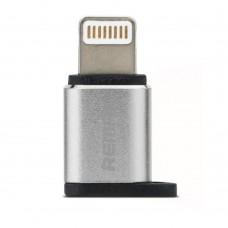 Adaptor mufa incarcare Micro usb la Iphone Lightning 5,6,7, Remax, incarcator microUSB mama - 8pin Lightning tata, alimentare telefon