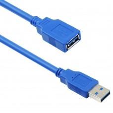 Cablu date USB 3.0 mama-tata Prelungitor, 3m, albastru