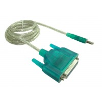 Cablu adaptor USB tata la port Paralel 25 pin d-sub, db25, interfata paralela bidirectionala, 1.5m