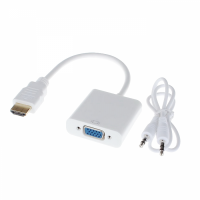 Adapter HDMI male (digital) to VGA femelea (analogue) + Audio, Active, full HD rezolution, convertor