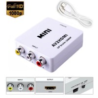 Adaptor AV la HDMI, Active, Full HD, convertor 3 x RCA analog la hdmi digital cu mufa video si sunet audio mama, cablu alimentare USB 5V, compatibilitate: dvd, ps3, xbox 360 la televizor/ monitor tv