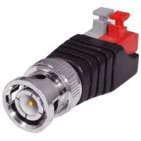 Set 2 conectori BNC cu 2 borne, mufa tata, camere supraveghere video, pentru orice cablu (coaxial, retea, electric)