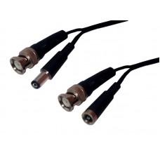 Cablu video CCTV pentru camere supraveghere, mufa BNC si jack alimentare 12v 5.5x2.1mm, 3m, 5m, 10m, 15m, 20m, 25m, 30m, 40m, 50m, 100m