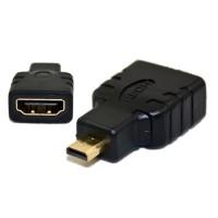 Adaptor / Mufa HDMI mama la micro HDMI tata, DeTech, negru, hdmi a la microhdmi c, contacte aurite, ambalaj individual
