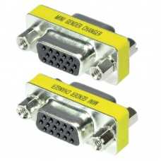 Adaptor / Mufa de prelungire cablu VGA,  Active, mama-mama, prelungitor dsub