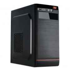 PC Cases RPC, no PSU, Middle Tower ATX, 2xUSB2.0, HD audio, opt.coolers: 8/9cm rear, 8/12cm side, 3.6kg, black