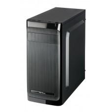 Carcasa fara sursa, Serioux Classic, Middle Tower, ATX/micro/ITX, 2xUSB2.0, HD audio, 2.7kg, negru, ventilator 120mm inclus