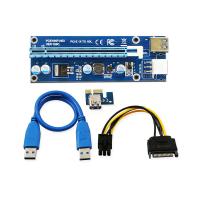 Placa Riser Card Mining, Active, PCI-E 006C, PCIE 1X - 16X pentru minat, Calitate Deosebita