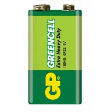 Baterii Greencell 6F22, 9v, Baterie Zinc Carbon, Blister cu 1 buc.