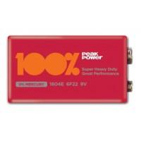 Baterii PeakPower, 9v, 6F22, Baterie Zinc Carbon, infoliat 1 buc.