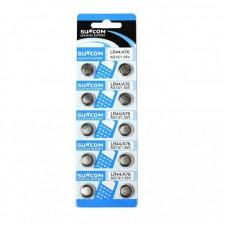 Set 10buc. blister Baterie tip buton 1.55V AG13/ A796/ LR44, baterii alkaline