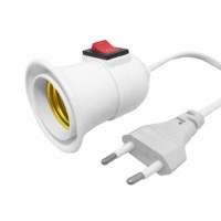 Cable socket for E27 bulb, Active, 2.8m wire, 250V / 3A current, with plug and switch