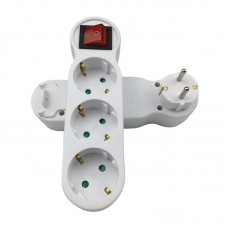 Triplu Stecher, Active, 3 Prize mama cu impamantare si buton on/off, protectie copii, curent 250V/16A/3500W