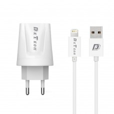 Charger and Data Cable for iPhone 5/6/7/SE, Detech, 5V, 2A, 2000mAh, fast charger