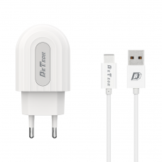 Type-C Data Charger and Cable, Fast Charge, DeTech, 5V, 2.4A, 2400mAh, compatible smart phones