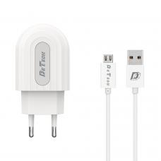 Incarcator si Cablu Date compatibil telefon- tableta micro USB, DeTech, 5V, 2.4A
