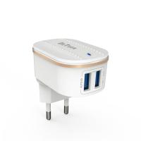 Incarcator Detech compatibil Telefoane, iesire 2 x USB, 5V, 3.1A