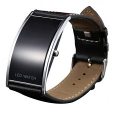 LED Watch Active Business, black, Digital, unisex, leather belt