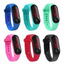 Ceas LED Silicone Active Sports diverse culori, digital, unisex: femei, barbati, copii, bratara reglabila