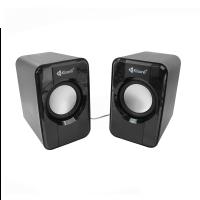 Boxe 2.0 Kisonli S-444, 6W, stereo, membrana cauciuc, alimentare usb, 1 x jack 3.5mm, negru