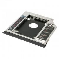 "Rack hard disk Caddy sata pentru laptop, Active, grosime 12.7mm, adaptor hdd/ssd s-ata 2.5"""