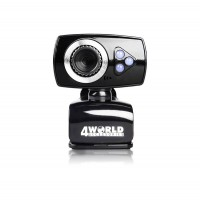 Webcam with microphone, 4World, light leds