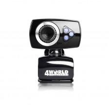 Camera Web cu microfon 4World, led-uri lumina