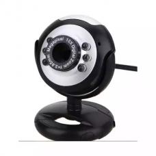 Camera Web cu microfon Active K80, USB 2.0, 6 led-uri lumina, rezolutie 480p, webcam plug and play, 1x USB, 1x jack 3.5mm, sistem prindere pe monitor