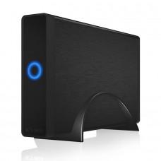 "Carcasa Rack Extern Hard Disk 3.5"" ICY BOX, USB 3.0, NEGRU, hdd SATA, alimentare externa, Aluminiu"